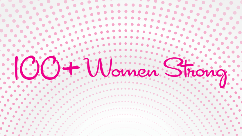 100+ Women Strong welcome event