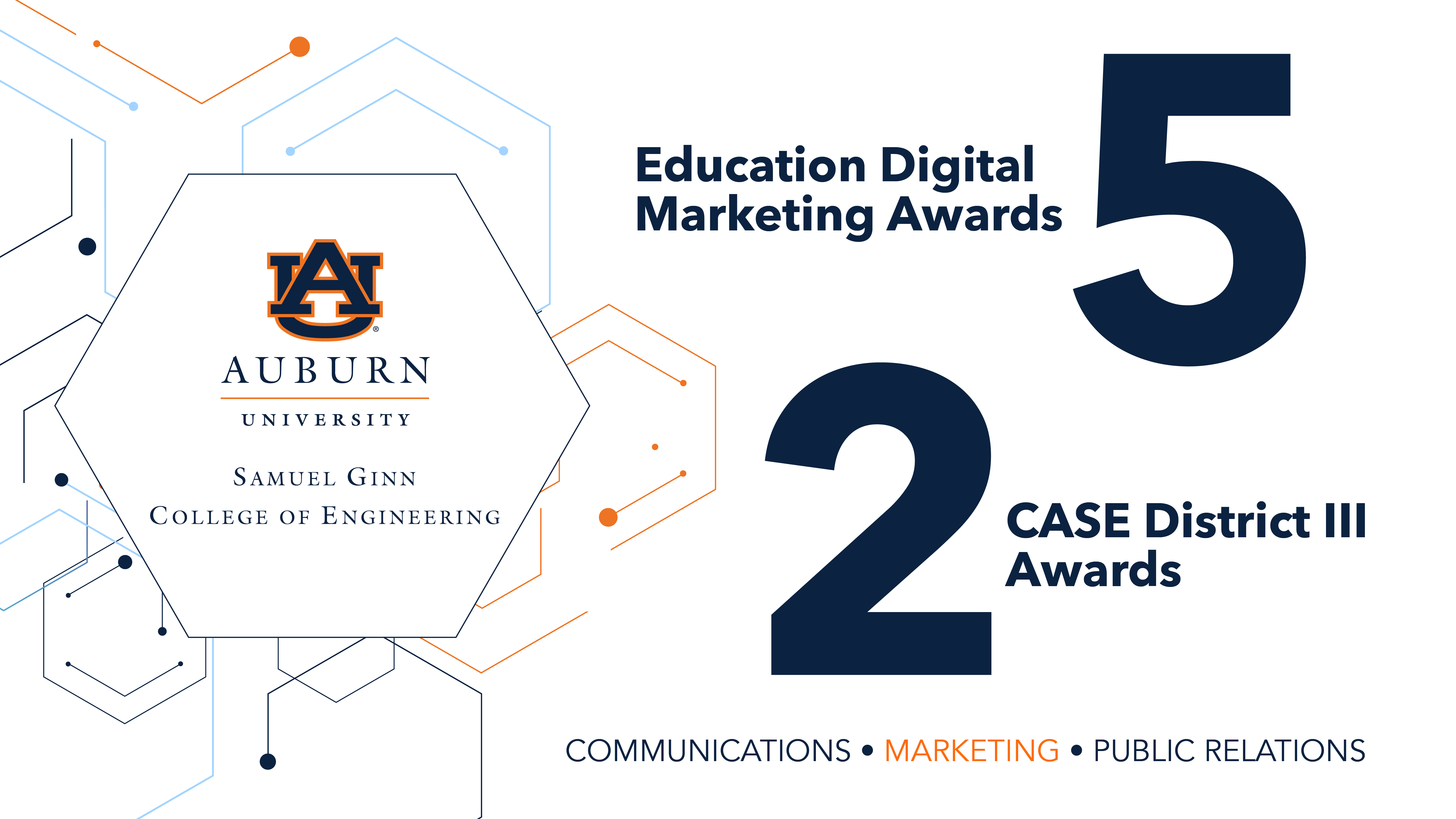 Auburn Engineering won 7 awards for excellence in communications and marketing.