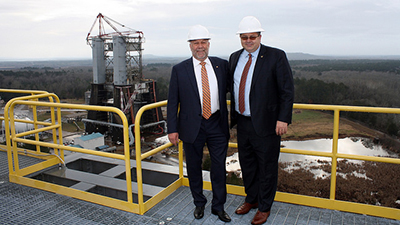 Auburn President Leath visits Huntsville, talks industry and research partnerships