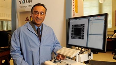 Pradeep Lall is shown in his lab.