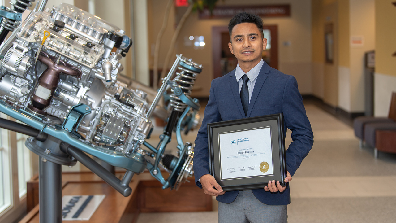 Ph.D. student wins Henry O. Fuchs Award from SAE International
