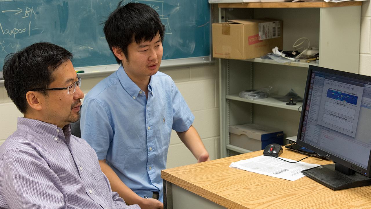 Shiwen Mao (left) and Xuyu Wang