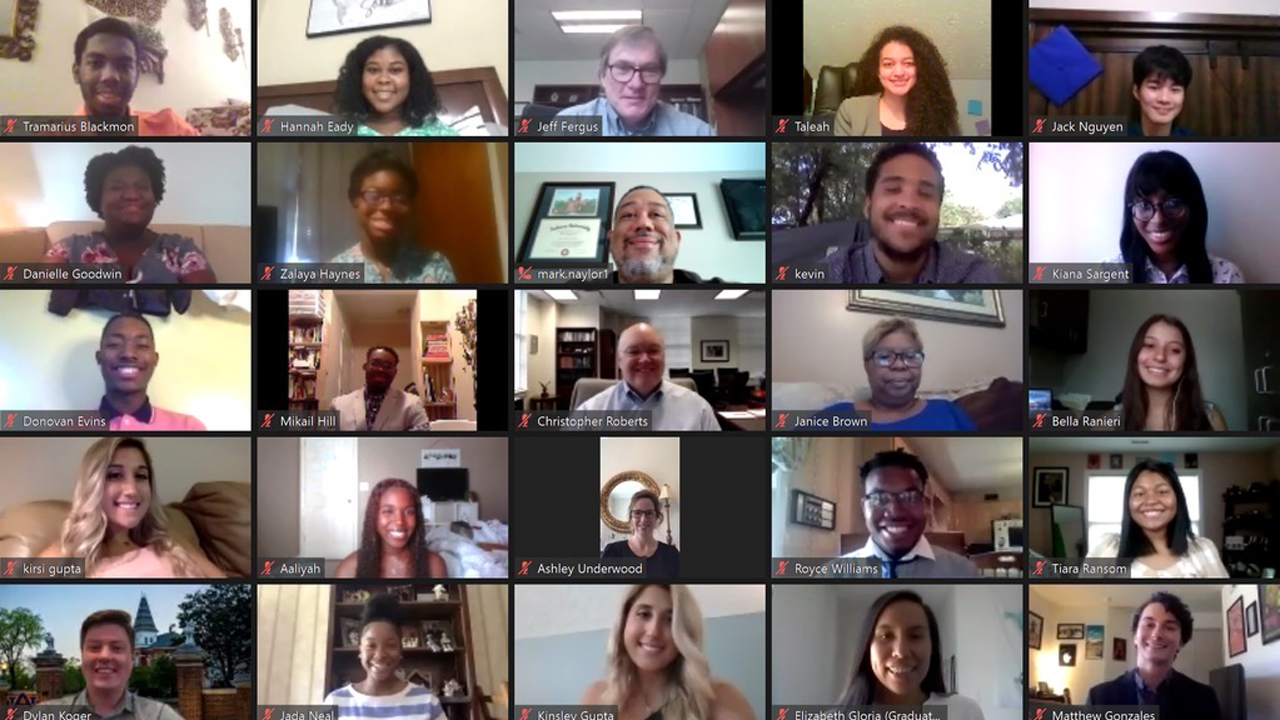 Program participants joined faculty, staff, administrators and alumni via Zoom to celebrate the close of the 2020 STEM Summer Bridge Program.