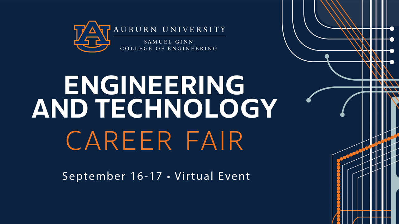 The Engineering and Technology Career Fair will take place on September 16 and 17.