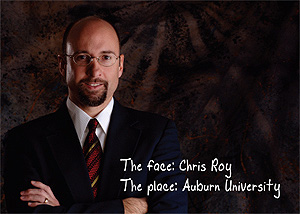 Christopher Roy postcard - front