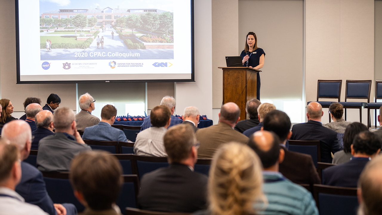 Margie Godwin, '02 textile engineering, speaks about CPAC's mission.