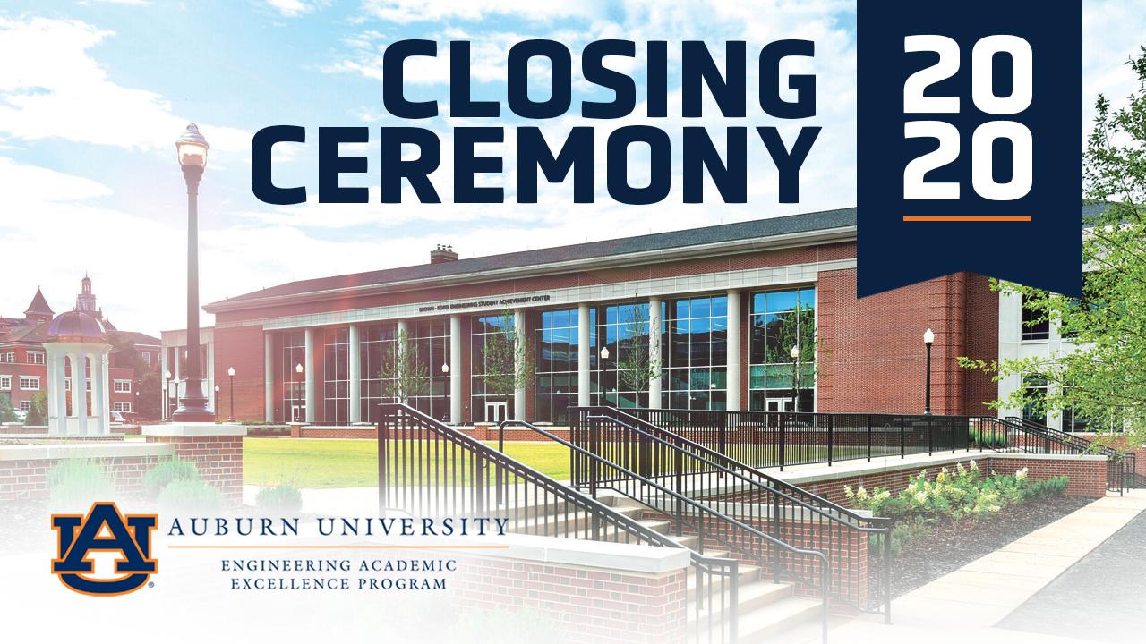 Engineering Academic Excellence Program celebrates spring Closing Ceremony.