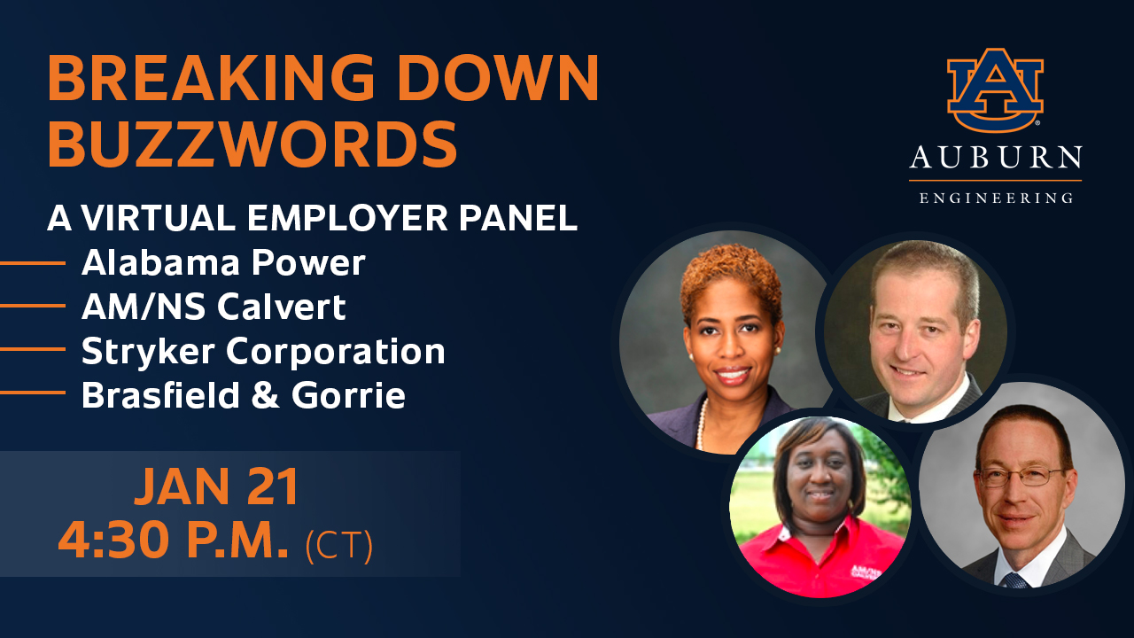 Representatives from four engineering employers will discuss various buzzwords in the workplace in a virtual panel on Thursday.