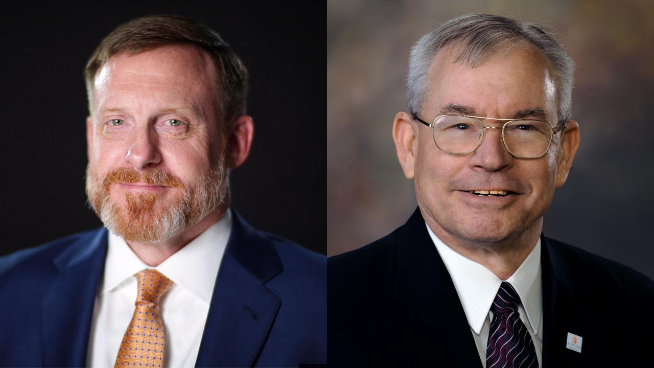 Adm. Michael S. Rogers and Lt. Gen. Ronald L. Burgess Jr.