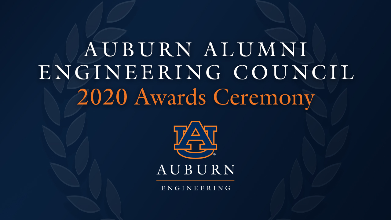 The Auburn Alumni Engineering Council recognized five alumni as Distinguished Auburn Engineers, three as Outstanding Young Auburn Engineers and the college's former director of communications and marketing for his Superior Service.