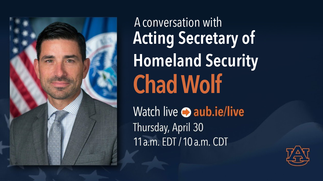 Acting Secretary of Homeland Security Chad Wolf