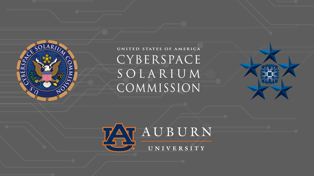 The U.S. Cyberspace Solarium Commission will partner with Auburn University's McCrary Institute for Cyber and Critical Infrastructure Security on Wednesday, April 29