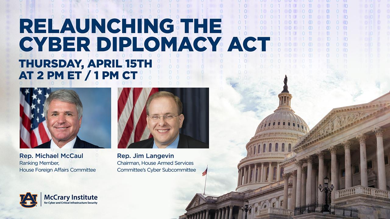 U.S. Reps. Michael McCaul, R-Texas, and Jim Langevin, D-R.I.