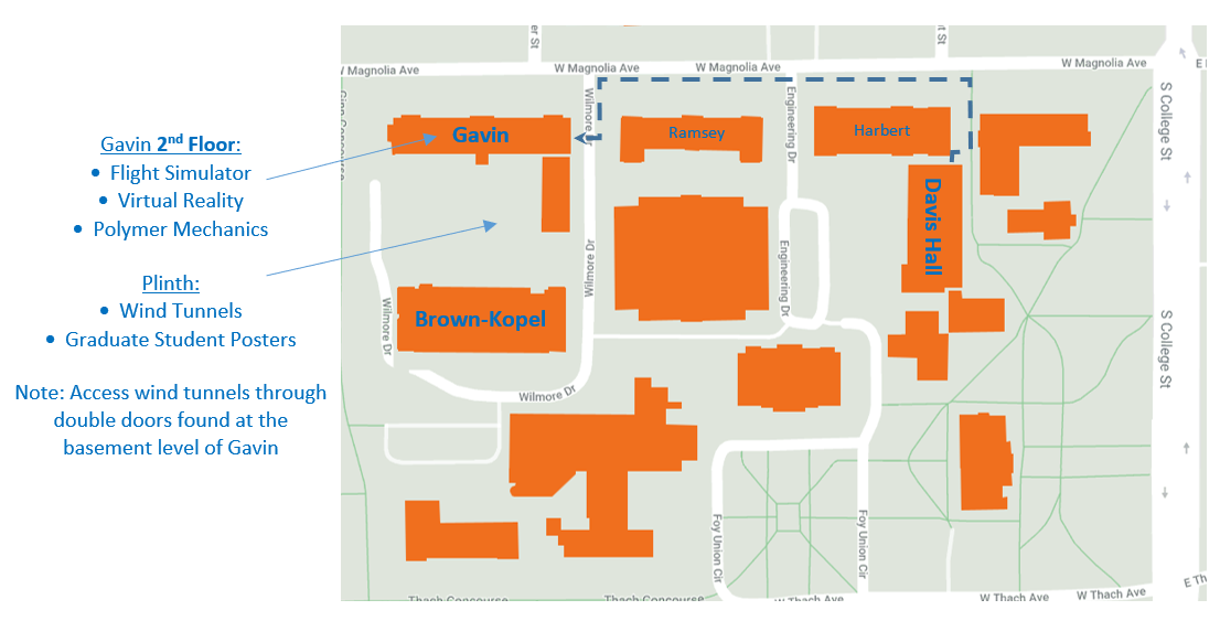 Map of the locations for the Open House