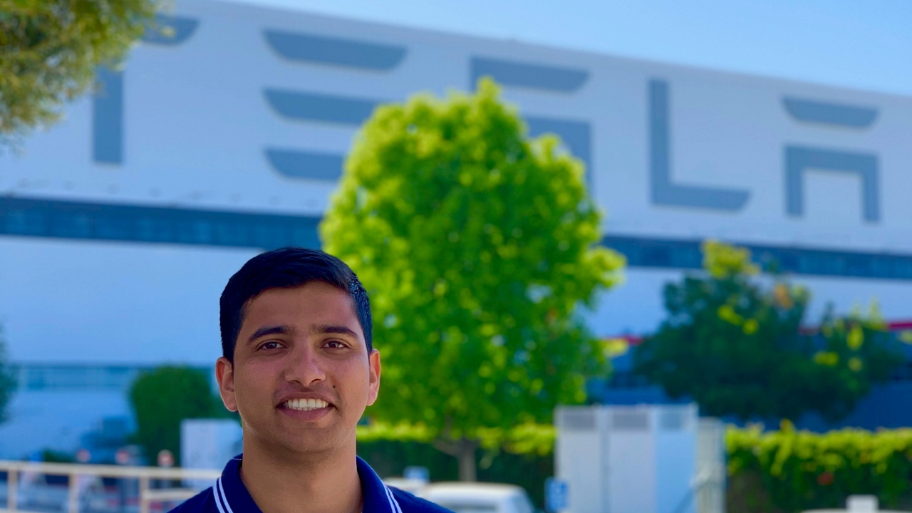 Akash Shettannavar, a 2017 graduate of the Auburn University Department of Industrial and Systems Engineering, has worked for Tesla for five years.