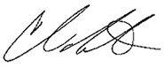 Chris Roberts Signature
