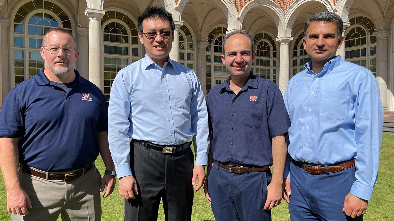 Professors Michael C. Hamilton, Shuai Shao, Masoud Mahjouri-Samani, and Nima Shamsaei.