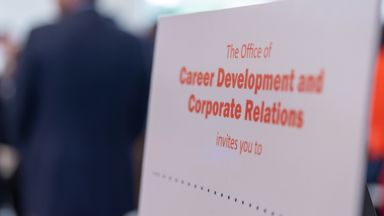 The Office of Career Development and Corporate Relations is available for remote career counseling.