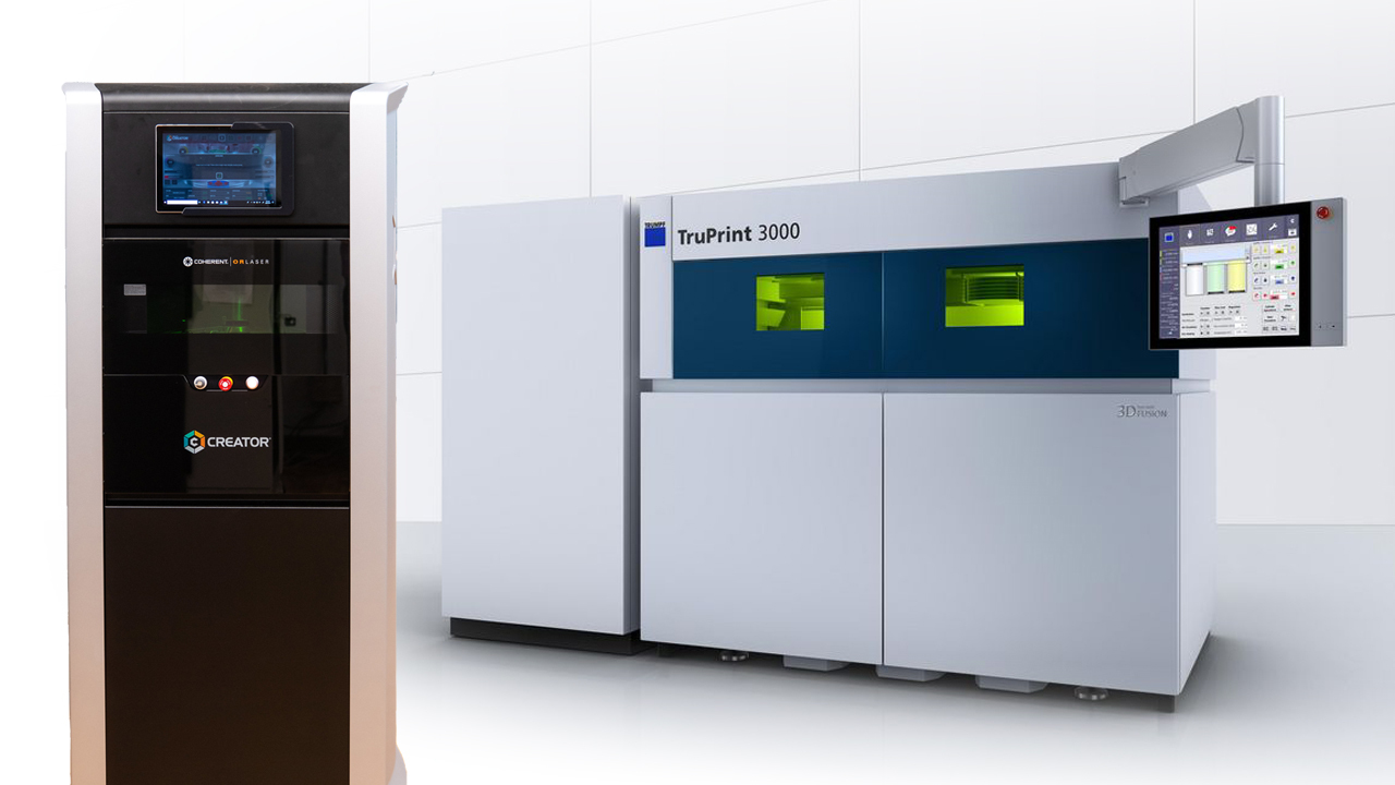 The Coherent CREATOR (left) and TRUMPF's TruPrint 3000 are the latest state-of-the-art additions to NCAME's facilities.