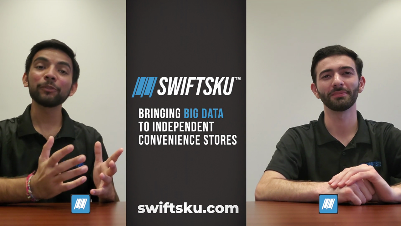 Mit Patel (left) and Daniel Mazur are the creators of SwiftSku.